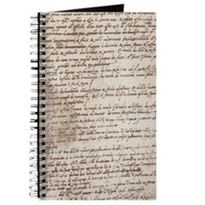 Leonardo Da Vinci's Handwriting Journal