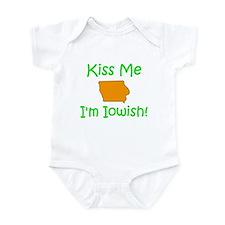 Kiss Me I'm Iowish Infant Bodysuit