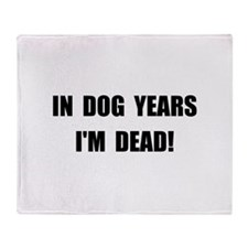 Dog Years Throw Blanket