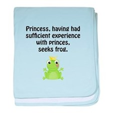Princess Frog baby blanket