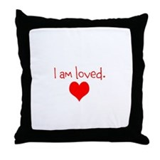 Sparkle Shine Love logo Throw Pillow