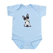 French Bulldog B/W Mask Infant Bodysuit
