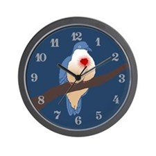 Bleeding Heart Dove Wall Clock