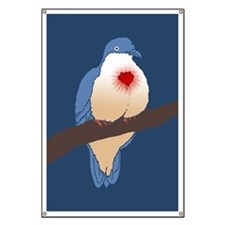 Bleeding Heart Dove Banner