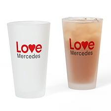 I Love Mercedes Drinking Glass
