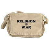 Religion Equals War Atheism Messenger Bag