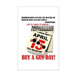 Buy a Gun Day Mini Poster Print