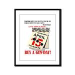 Buy a Gun Day Framed Panel Print