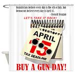 Buy a Gun Day Shower Curtain