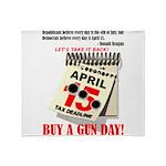Buy a Gun Day Throw Blanket
