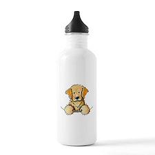 Pocket Golden Retriever Water Bottle