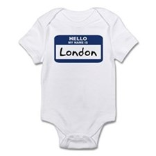Hello: London Infant Bodysuit