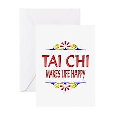 Tai Chi Happy Greeting Card