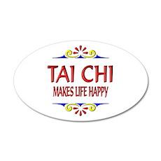Tai Chi Happy 20x12 Oval Wall Decal