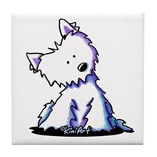 Curious Westie Tile Coaster