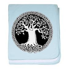 Celtic Tree baby blanket (blue or pink)