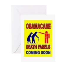 OBAMACARE DEATH Greeting Card