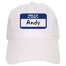 Hello: Andy Baseball Cap