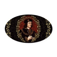 Richard III Oval Car Magnet