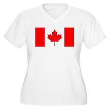 Canadian Flag Plus Size T-Shirt
