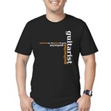 Black Guitarist T-shirt (orange) T-Shirt
