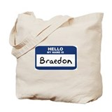 Hello: Braedon Tote Bag