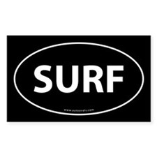 Surf Auto Bumper Decal -White (Oval) Decal