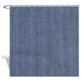 Blue Denim Jean Shower Curtain