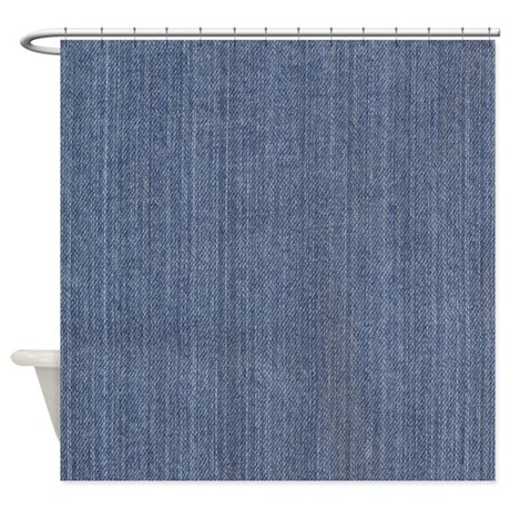 Blue Denim Jean Shower Curtain By Be Inspired By Life