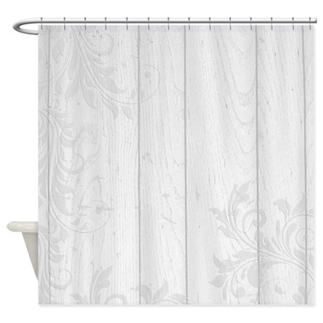 elegant white floral shower curtain by be inspired by life