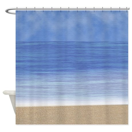 At The Beach Shower Curtain By Be Inspired By Life
