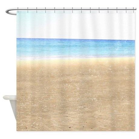 sea and sand beach shower curtain by be inspired by life