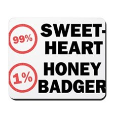 Sweetheart vs. Honey Badger Mousepad