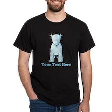 Baby Polar Bear. Custom Text. T-Shirt