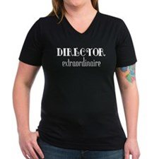 Director Extraordinaire Women's V-Neck Dark T-Shir