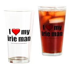 """Love My Irie Man"" Drinking Glass"