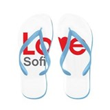 I Love Sofia Flip Flops
