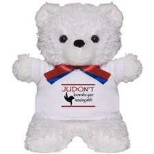 JUDON'T know who your messing with Judo Logo Teddy