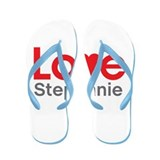 I Love Stephanie Flip Flops