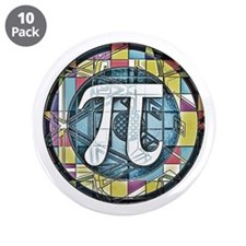 "Pi Symbol 3 3.5"" Button (10 pack)"