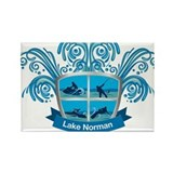 Lake Norman Splash Logo - LKN Rectangle Magnet