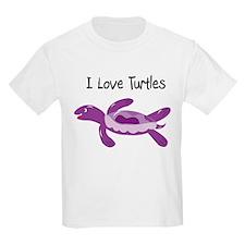 Purple I Love Turtles T-Shirt