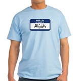 Hello: Alijah Ash Grey T-Shirt