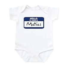 Hello: Matias Infant Bodysuit