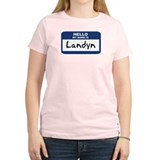 Hello: Landyn Women's Pink T-Shirt