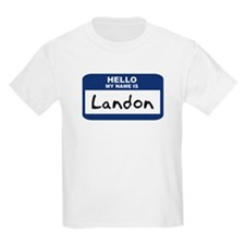 Hello: Landon Kids T-Shirt