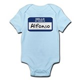 Hello: Alfonso Infant Bodysuit