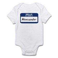 Hello: Alexzander Infant Bodysuit