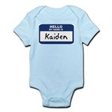 Hello: Kaiden Infant Bodysuit