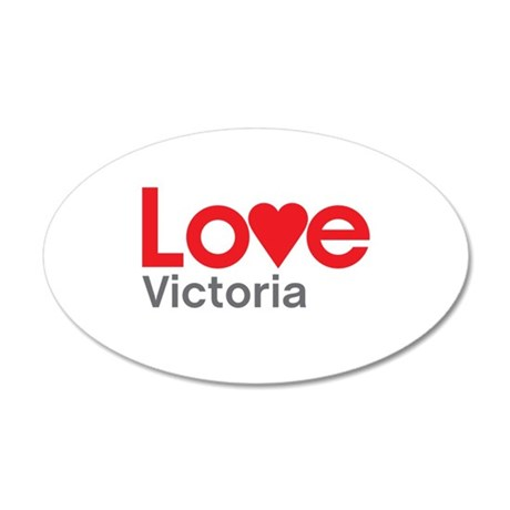 I Love Victoria Wall Decal